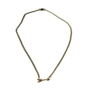 "8"" arrow gold necklace"